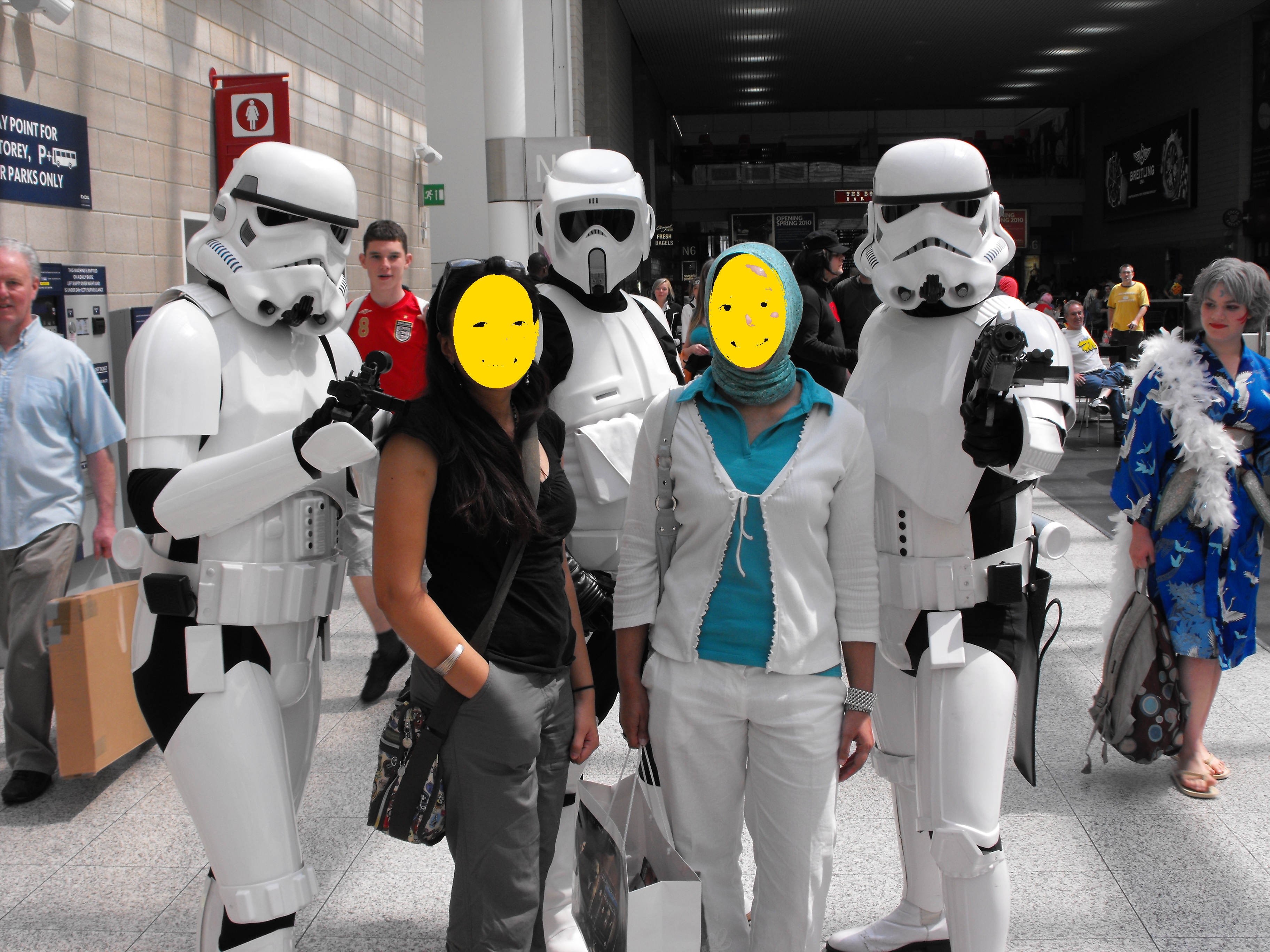 1 With friends at London Expo May 2009